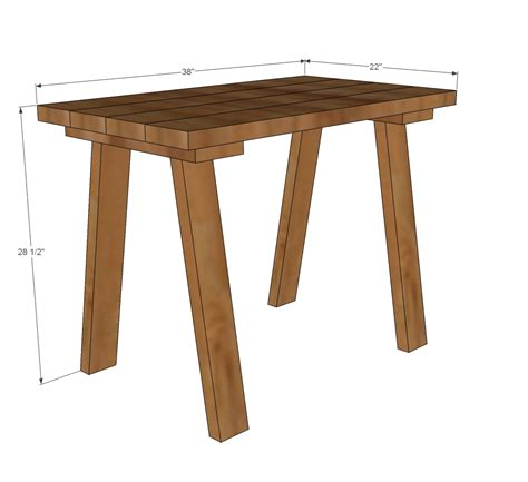 desk plans woodwork trestle desk plans pdf plans