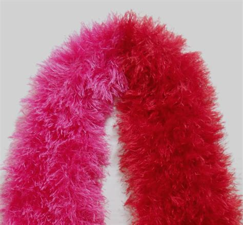 knitting pattern for eyelash scarf red hot pink eyelash yarn hand knit scarf