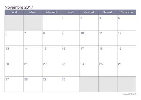 calendrier novembre 2017 224 imprimer icalendrier
