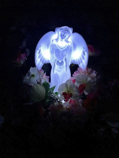 angel solar lights outdoor eternal light angel solar powered cemetery grave garden