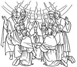 pentecost color free coloring pages of holy spirit