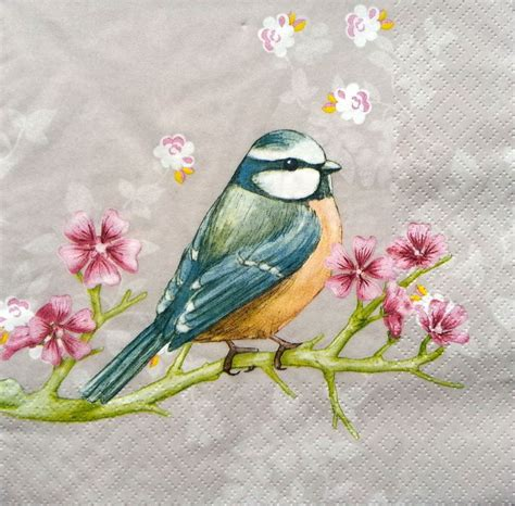 Bird Decoupage Paper - 7 best birds paper napkins designs for decoupage and