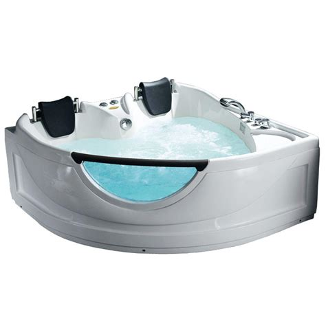 5 ft jacuzzi bathtub ariel 5 ft whirlpool tub in white bt 150150 the home depot