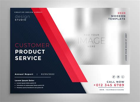 Modern Red Business Presentation Flyer Template Download Free Vector Art Stock Graphics Images Presentation Flyer Template