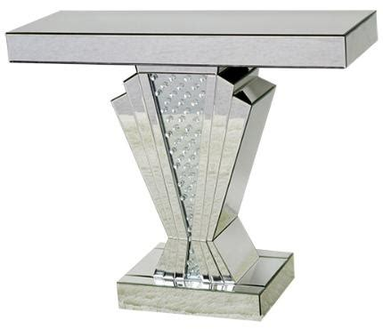 art deco crystal decor mirrored console table cd