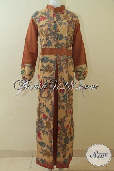 desain gamis batik cantik gamis batik terbaru trend mode masa kini dengan desain