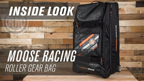 moose motocross gear moose racing roller motocross gear bag inside look