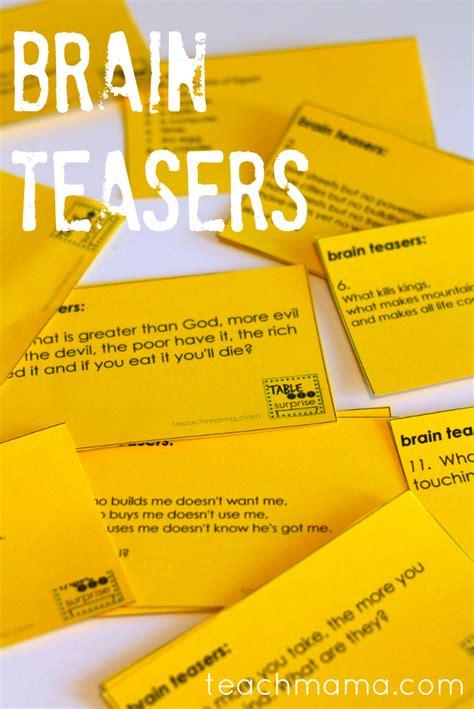 brain teasers brain teasers for teach