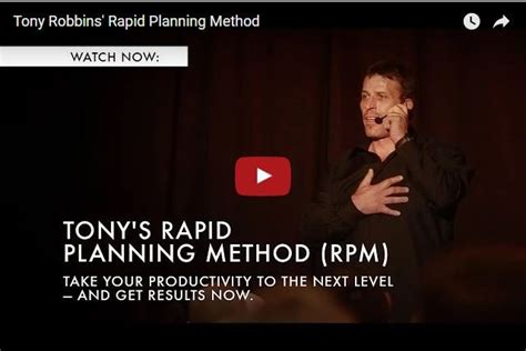 anthony robbins ten fundamental to effective tony robbins secret to successful planning legends report