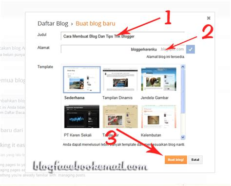 cara membuat blog via hp materi tik cara membuat blog