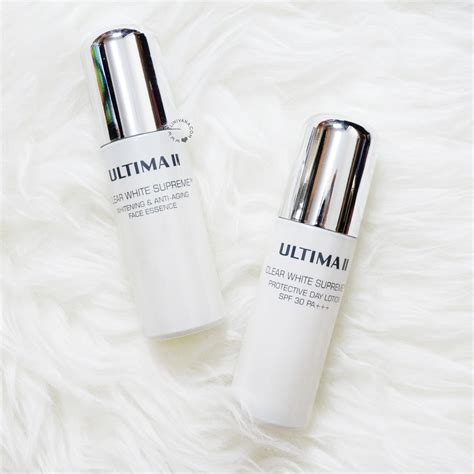 Harga Ultima Clear White ultima ii clear white supreme essence and lotion
