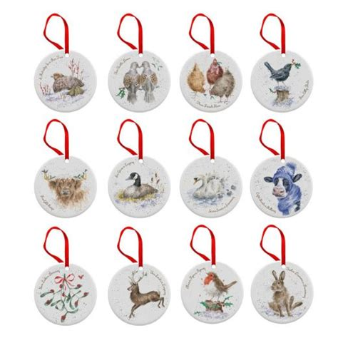 12 days of christmas decorations 12 days of decorations wrendale designs