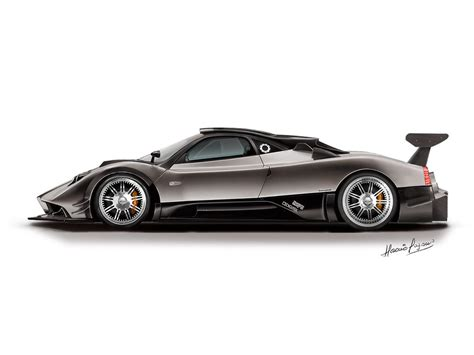 Pagani Zonda R Side View Pixshark Com Images