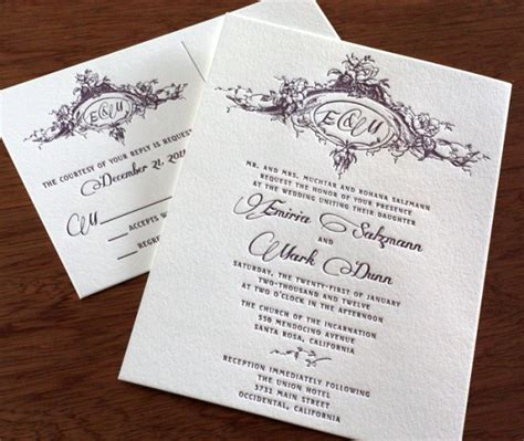 twilight wedding invitation card twilight inspired wedding invitations letterpress invites