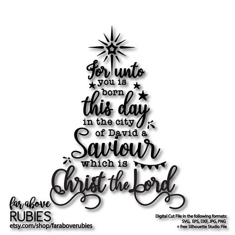 christmas bible verse luke  kjv  saviour   christ