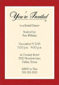 invitation template word dinner invitations templates