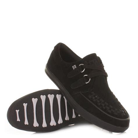flat sneaker tuk shoes black mens unisex rocker sneaker creepers flat