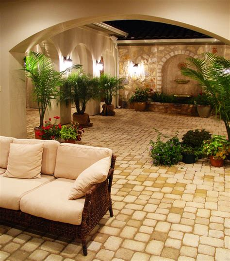 courtyard ideas hacienda courtyard at flintrock lakeway mediterranean patio by alberto