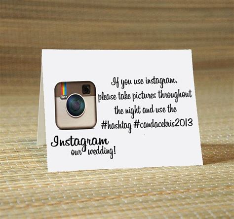 A Place Instagram Instagram My Wedding Hashtag Cards Wedding Calligraphy For Place Card Card Name Card