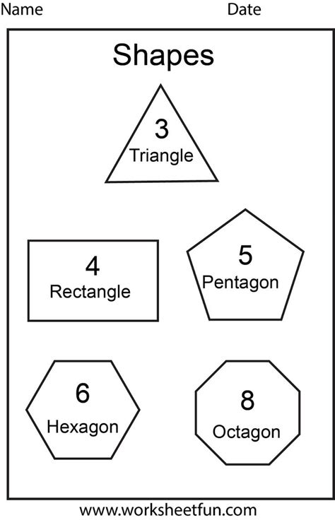 printable shape activities for preschool octagon worksheets for preschoolers worksheetfun free