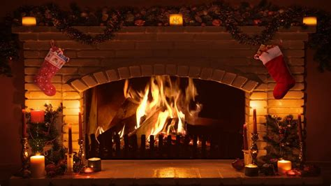 screensaver camino bright burning fireplace version