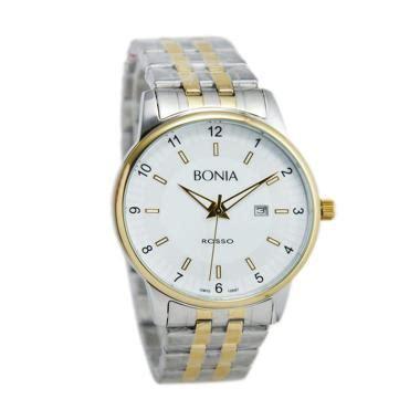 Jam Tangan Bonia Rosso Bnb 10097 jual bonia rosso jam tangan pria silver gold bnb10097