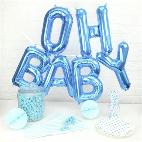 Baby Boy Balloons For Baby Shower by Oh Baby Baby Shower Balloons By Blossom