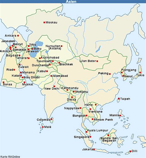 raonline  geografie karten asien volksrepublik china