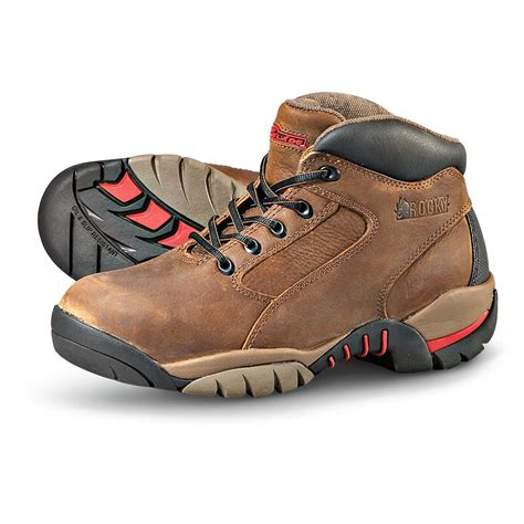 steel toe boots mens s rocky 174 steel toe hiking boots brown 170723
