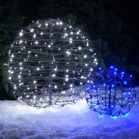 blue led hanging light sphere trees hanging lights and