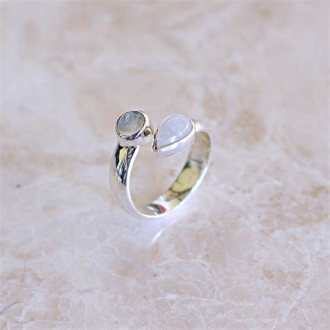 sterling silver moonstone ring by by niki
