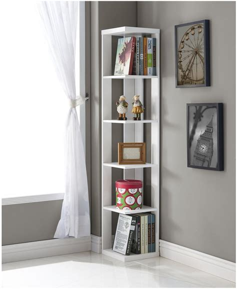 187 Top 25 Corner Bookshelf And Corner Bookcase Collection Corner Bookcase White