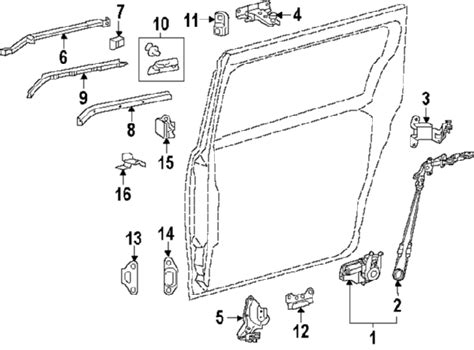 toyota sienna rear door parts diagram view toyota free engine image for user manual download parts com 174 toyota sienna sliding door hardware oem parts