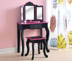 home kids dress  vanity set  mirror stool
