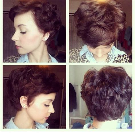 wavy thick hair with a pixie cut wavy pixie haircut long hair don t care pinterest