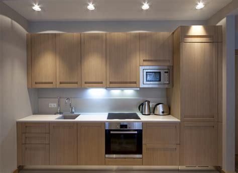 Beige Kitchen Cabinets by Cocina Peque 241 A Moderna En Roble Fotos Para Que Te
