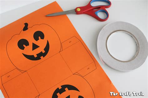 How To Make A Pumpkin Out Of Paper - paper pumpkin basket printable the craft