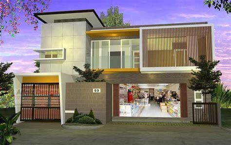 desain rumah toko 5 desain rumah toko modern untuk memulai bisnis anda arsitag