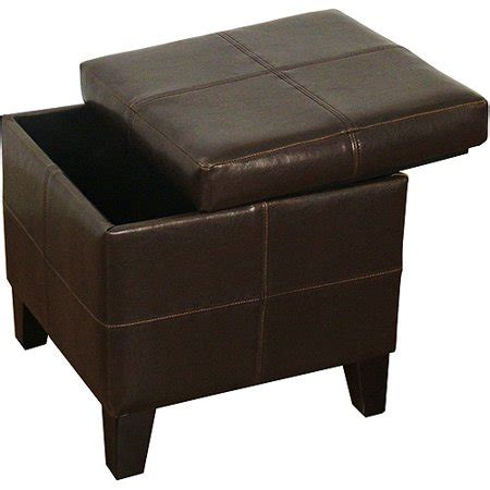 square leather storage ottoman square storage ottoman chocolate faux leather