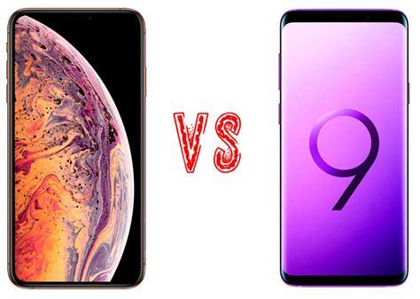 comparativa iphone xs max vs samsung galaxy s9