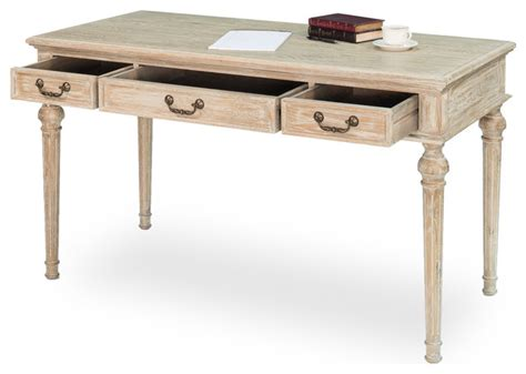 Whitewashed Office Furniture by Gaston Desk Whitewash Rustic Home Office Furniture