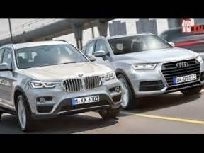 suv bmw x3 (2017) vs. audi q5 (2016) youtube