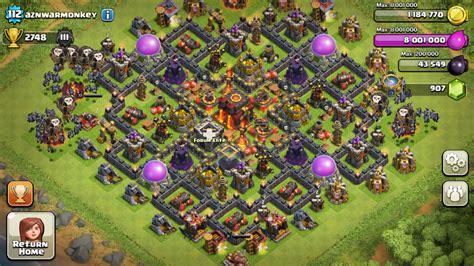 clash of clans th10 village layout omniclan clan de clash of clans