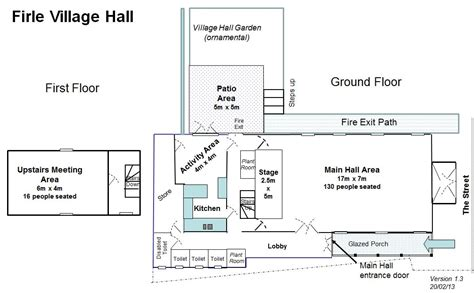 plan the approximate layout of the building hall layout and plans firle village hall