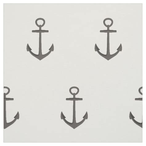 fabric pattern anchor simple nautical anchor pattern fabric zazzle