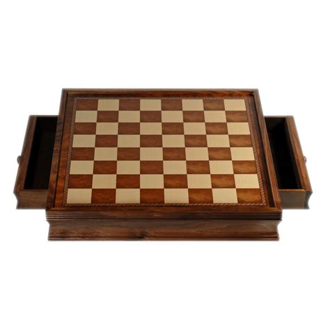 Chess Board With Drawers by Deluxe Chess Board With Storage Drawers Chor Wood 19