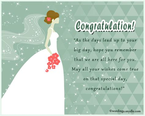 Wedding Nuptials Congratulations by Bridal Shower Messages Wordings And Messages