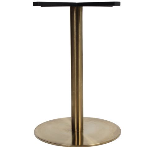 gold table l base corten round gold table base