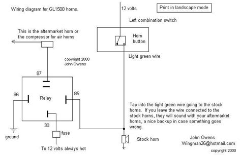 gl1500 gl1800 horns wiring diagram
