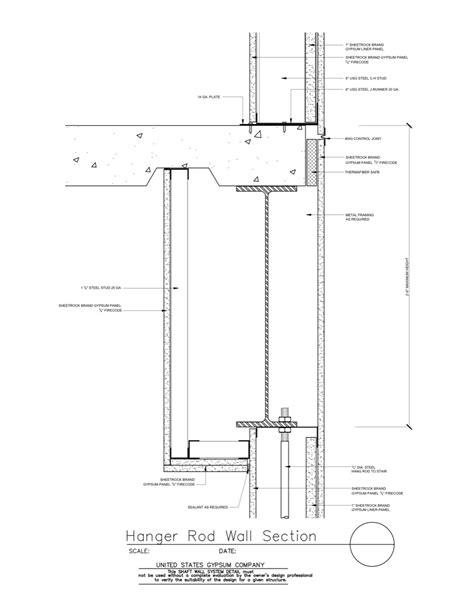 i beam section usg design studio 09 21 16 23 3911 shaft wall hanger rod